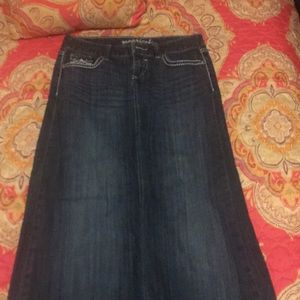 Maurice's Good Condition Ankle Length Jean Skirt
